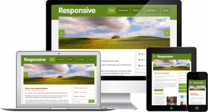 Image of responsive WordPress websites on different devices